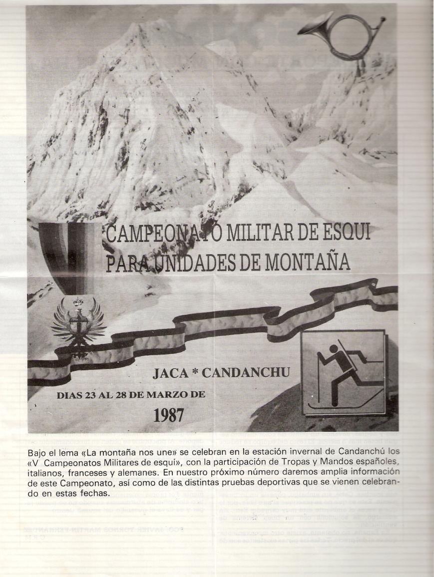 Cartel del Campeonato Militar de Esqui para Unidades de Montaña