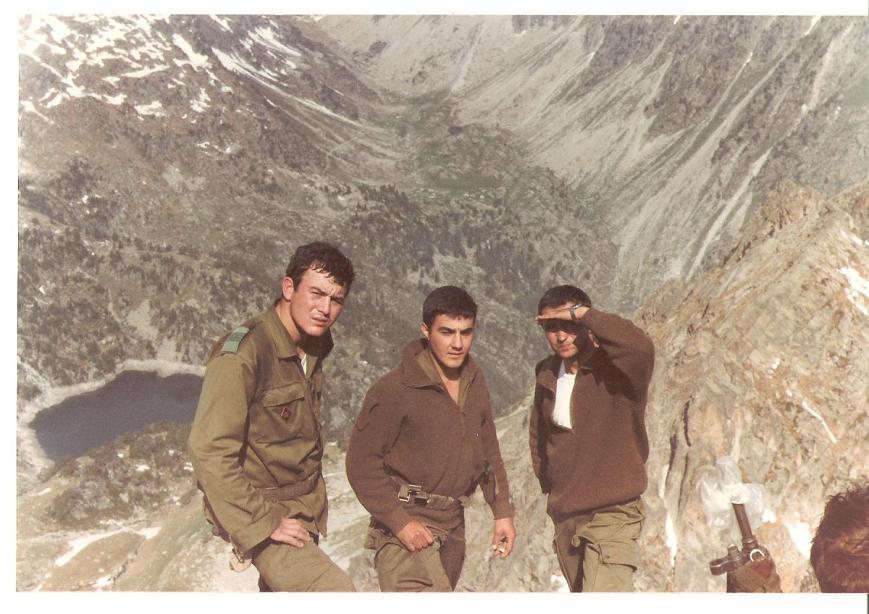 Paco Navarro, Crespo y Joaquín Pardinilla en la cima del ¿Montarto?