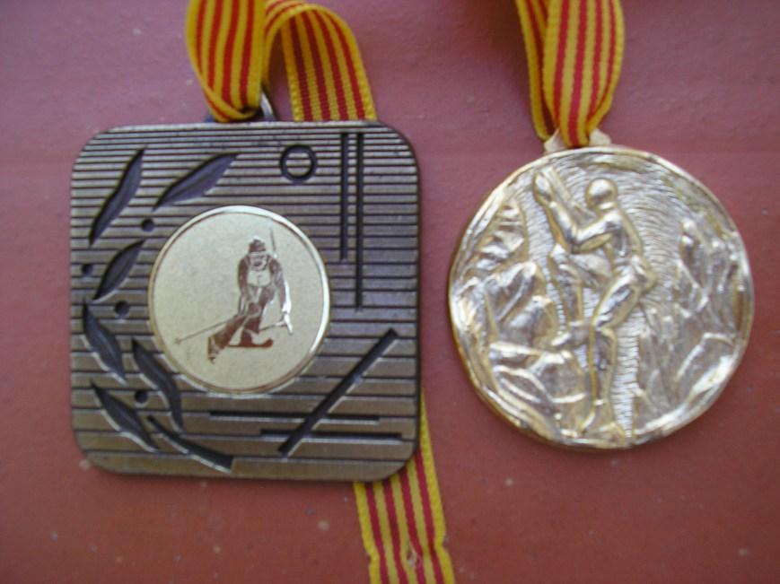 Medallas del Curso de Esqui y Escalada