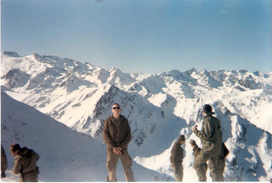 Vista desde el Montcorbissun, 2167 m., hacia el Glaciar del Aneto, a la izq. de la foto.