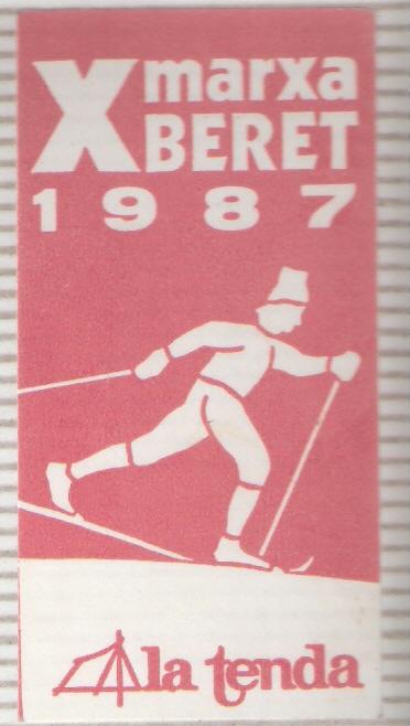 Adhesivo de la Marcha Beret de Esqui de Fondo
