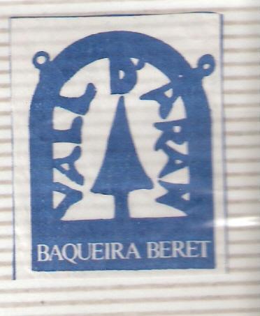 recorte de un sobre de azúcar de Baqueira