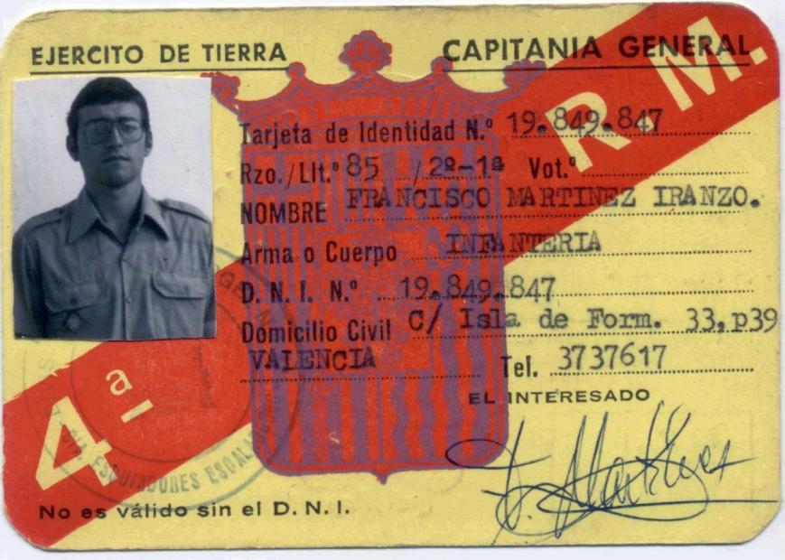 Mi carnet militar.