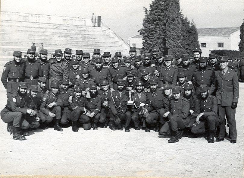 Competiciones Patronas 76. Bajábamos a competir en Lleida frente a unidades tipo Batallón y les plantábamos cara. Éramos pocos pero buenos.