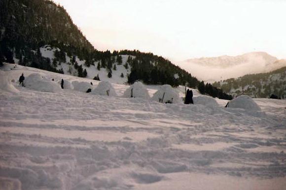 Campamento de iglús...