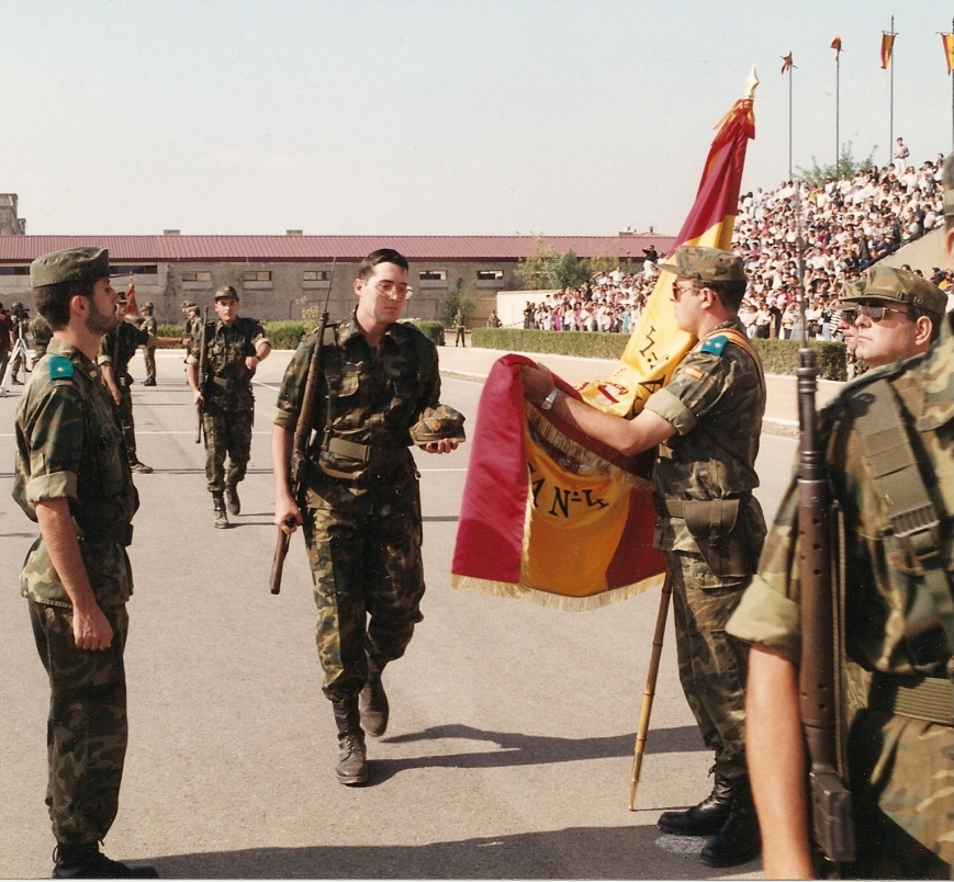 Un poco de autocomplaciencia, el dia de la Jura de Bandera en el Acuartelamiento de Templarios (Lérida)