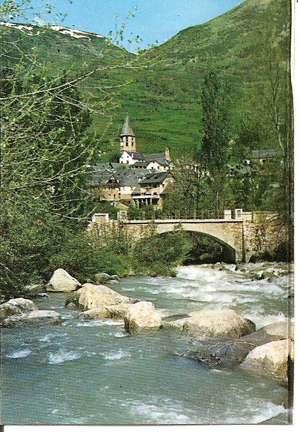 Salardu. Rio Garona y vista parcial