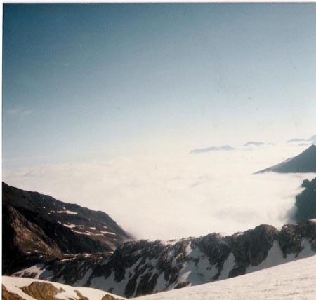 Mar de nubes desde el Molieres