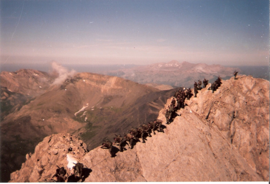 """""""Paso de Caballo"""", Pico de Vallibierna, 3080 m."""