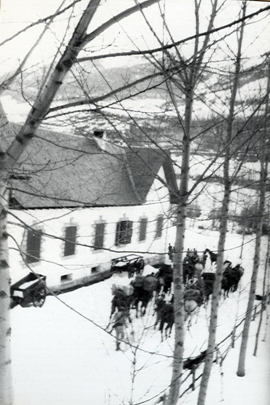 Sección de armas un sábado nevado.