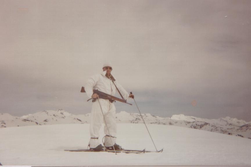 Foto de un esquiador para el recuerdo