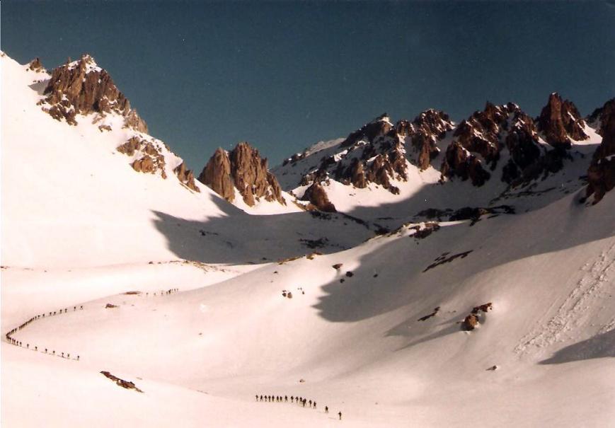 Los esquiadores de Viella por tierras francesas