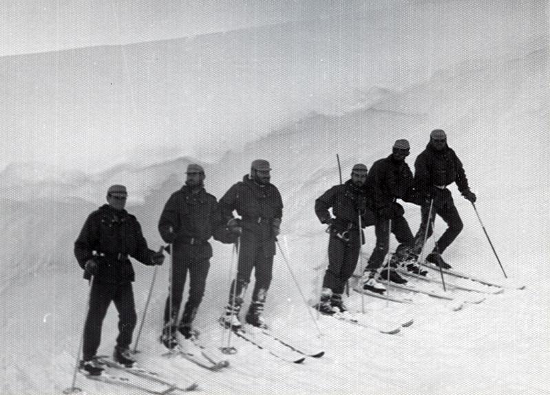 Descanso en clase de esqui