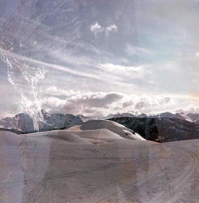 Foto curiosa, asi se ve un paisaje desde Valarties hacia la Restanca