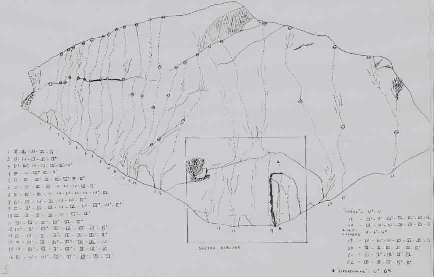 Reseña de las vias de escalada de Baguerge