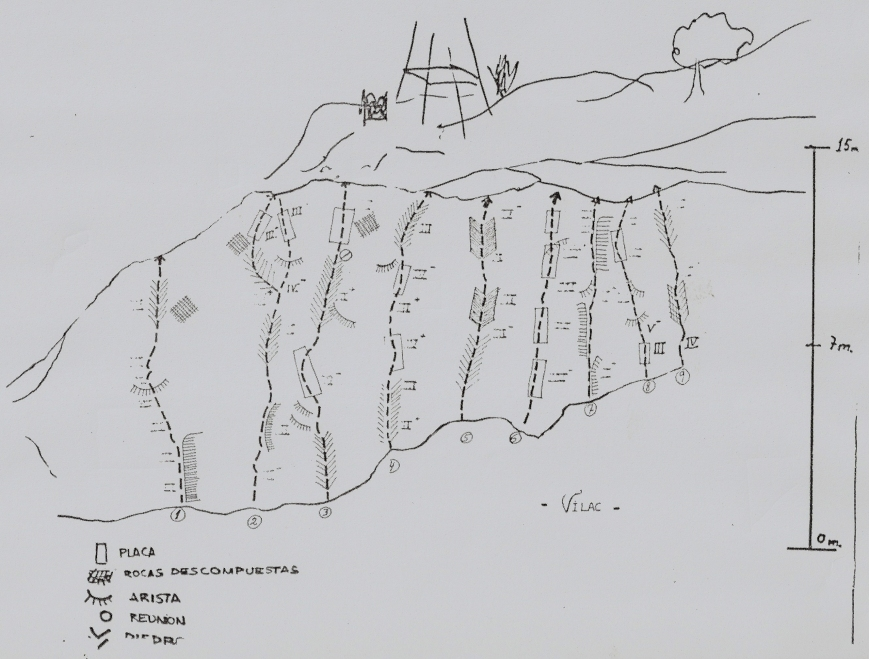 Reseña de las vias de escalada de Vilac