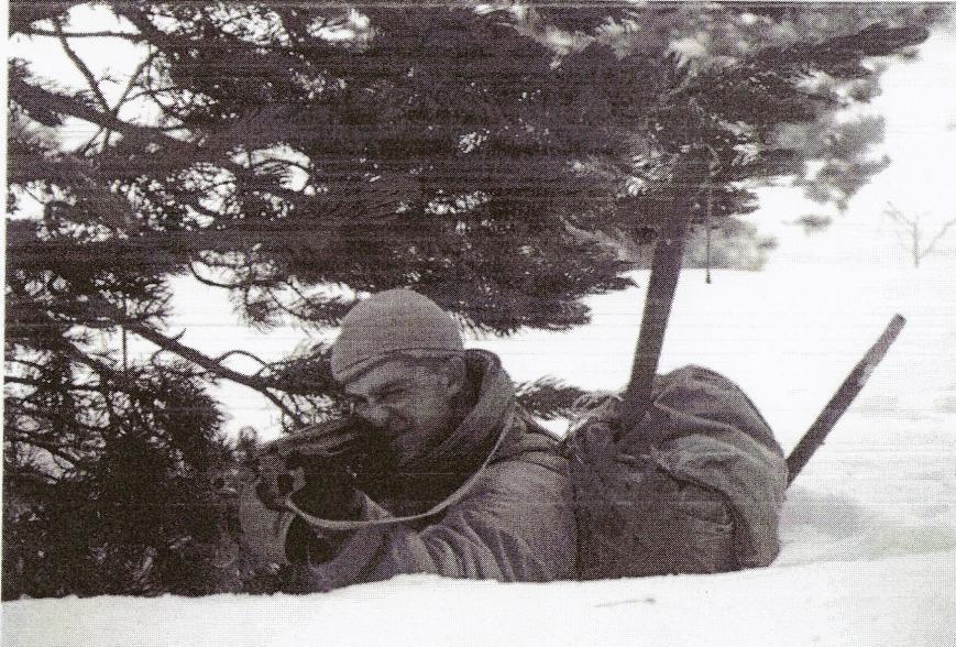 Instrucción y orden de combate en nieve.