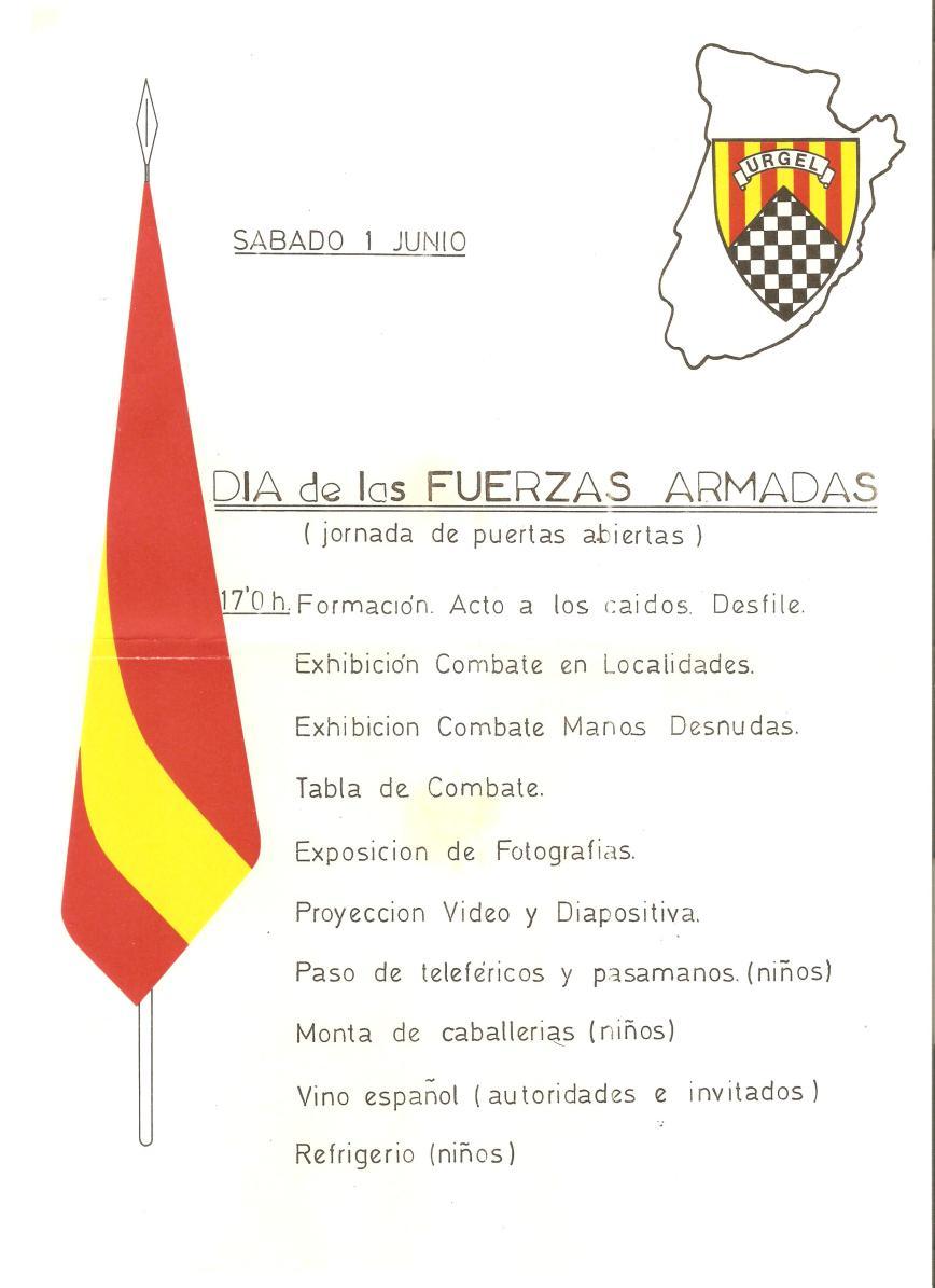 Cartel de los actos conmemorativos del dia de las FAS 85
