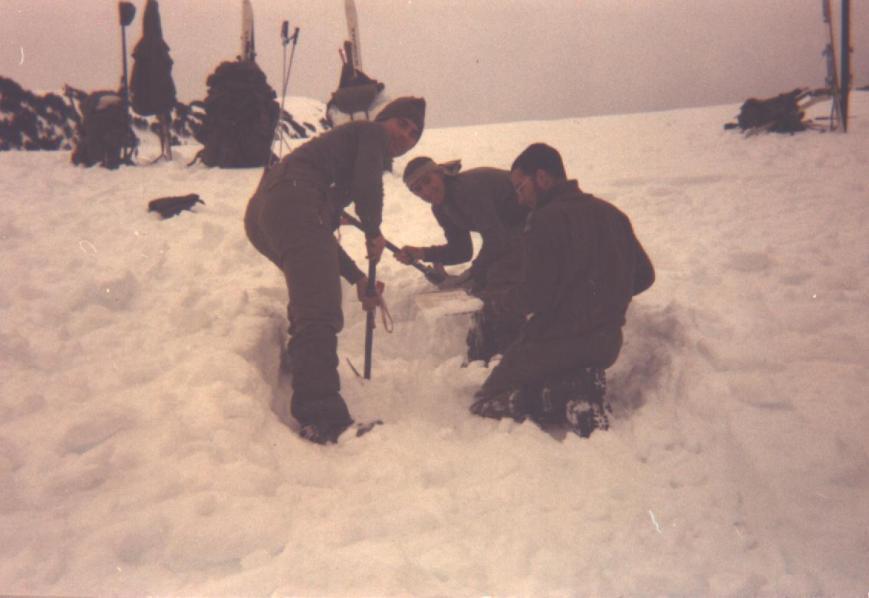 Preparando el nidito Geronimo,Argente y Cándido.