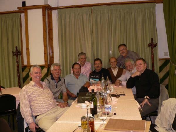 Encuentro en la panadella el 25-4-09 de izquierda a derecha  José Serna, Carlos Cortés, Joan Riera, Josep Cau, Jaume Vidal, Carles Crespo,Amado Velez, Paco Martinez Juesas y Jose Barranca