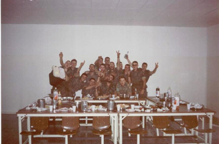 Primera comida de la sección. 01/07/1993