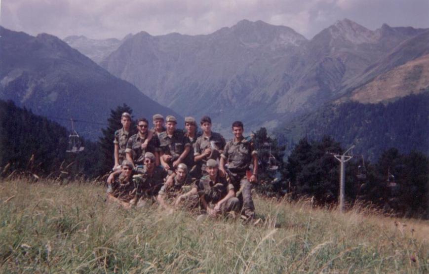 Prácticas de topográfia en la Tuca. Verano de 1993
