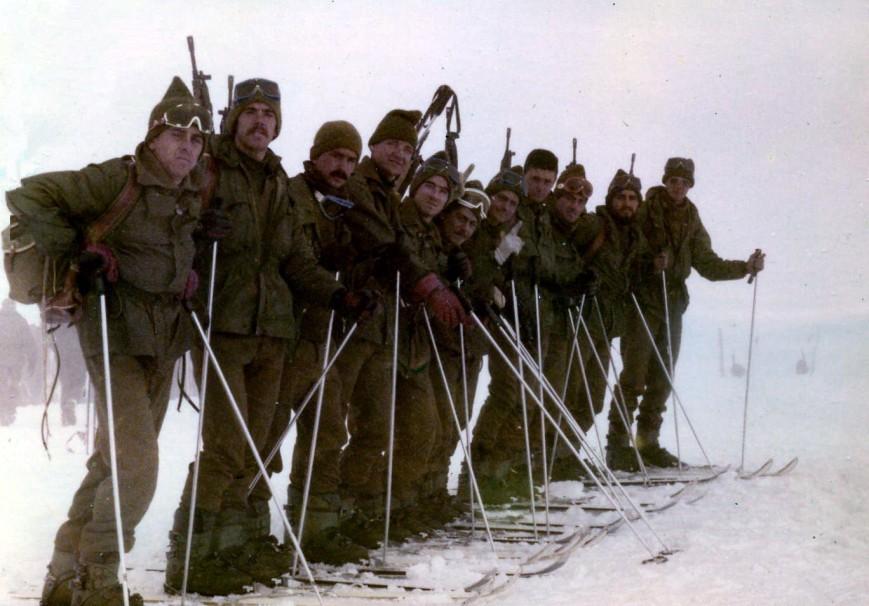 Patrulla de prueba de esqui