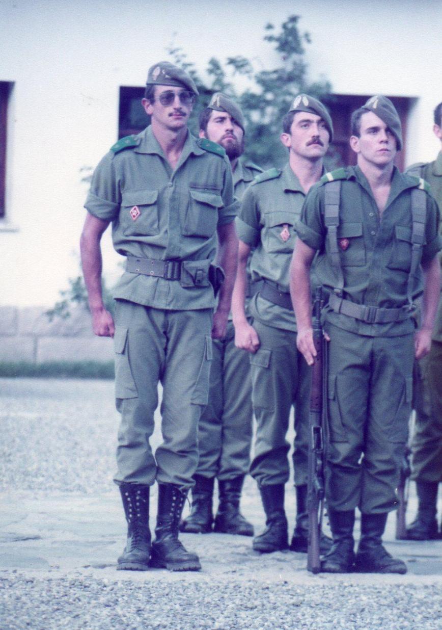 Con el Teniente Franco.