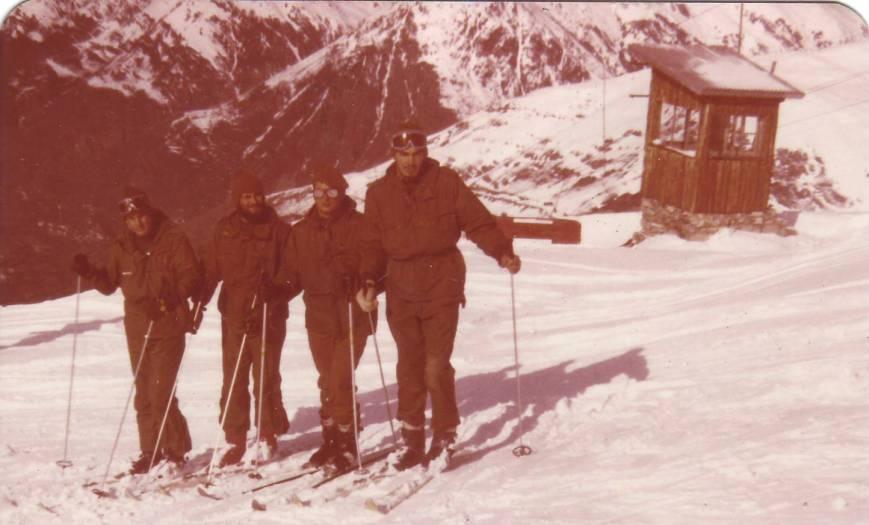 Mi último curso de esquí en Baqueira (1979), como Cabo 1º instructor.