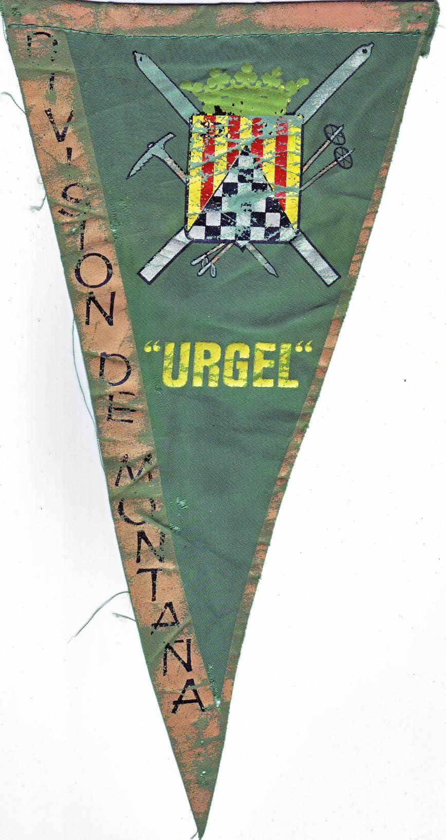 """Banderín de la División """"Urgel"""" nº 4"""