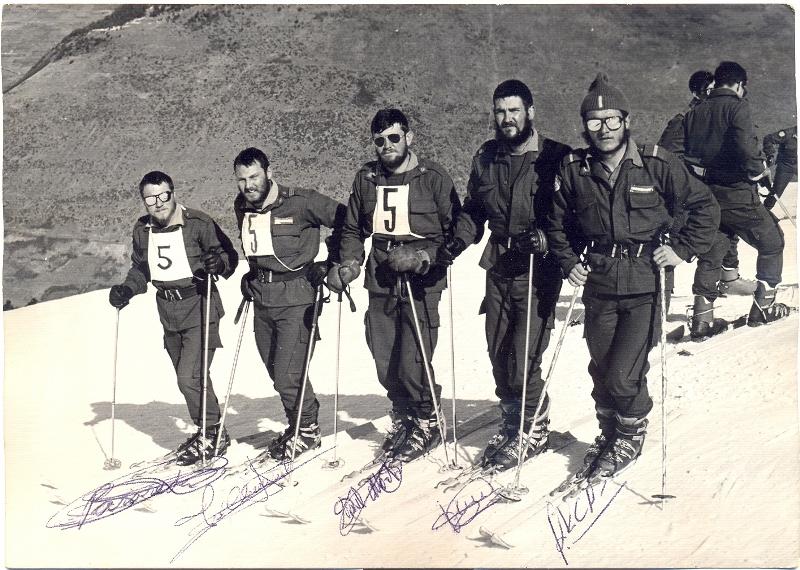 de izquierda a derecha, Parareda, Climent, Marti, Leon y Arcas.