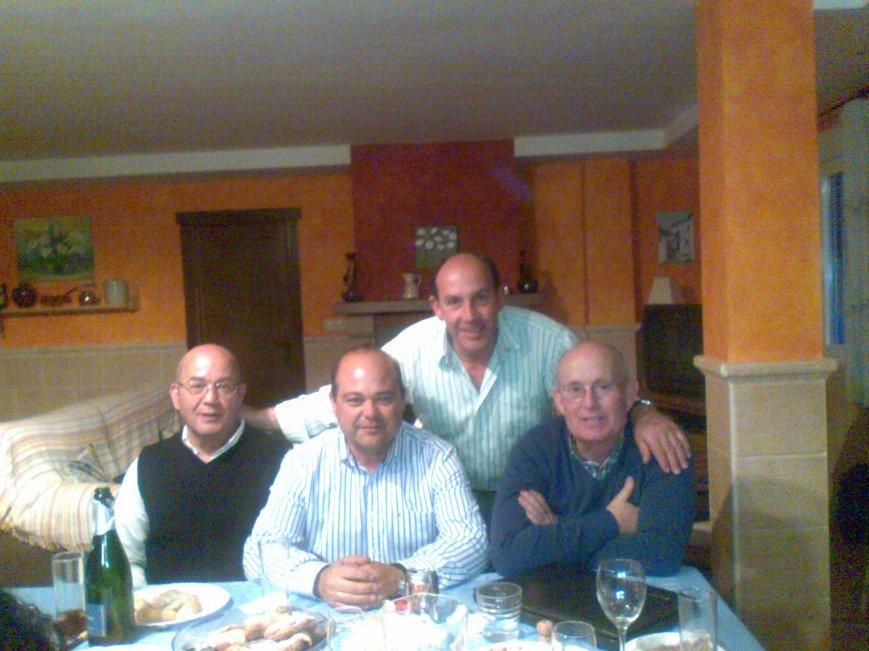 Rafael, Quino, Emilio y Carlos.