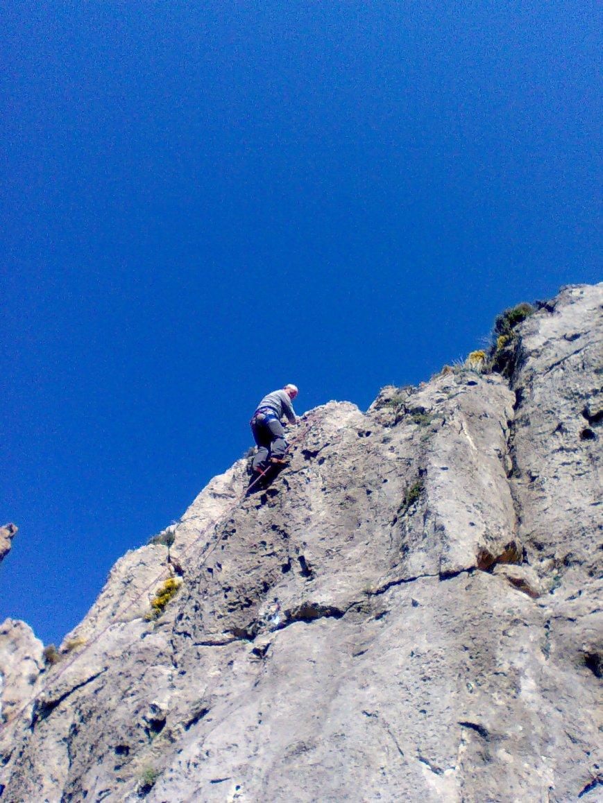 Y arriba del todo iniciando el descenso...