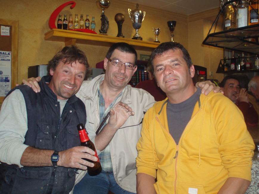 Jubany,Matamala y Cardeñosa,contandonos batallitas