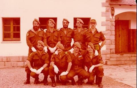 Los Cabos 1º de la Cía. el día de la Patrona de Infantería (8/12/1979)