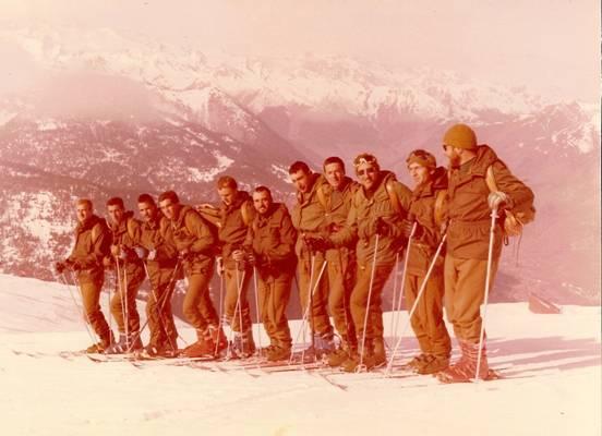 Enero de 1980, curso de esquí en Baqueria. Zona alta de la pista del Mirador