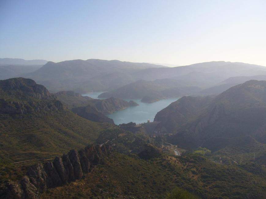 Vista del pantano de Santa Anna desde la cima.