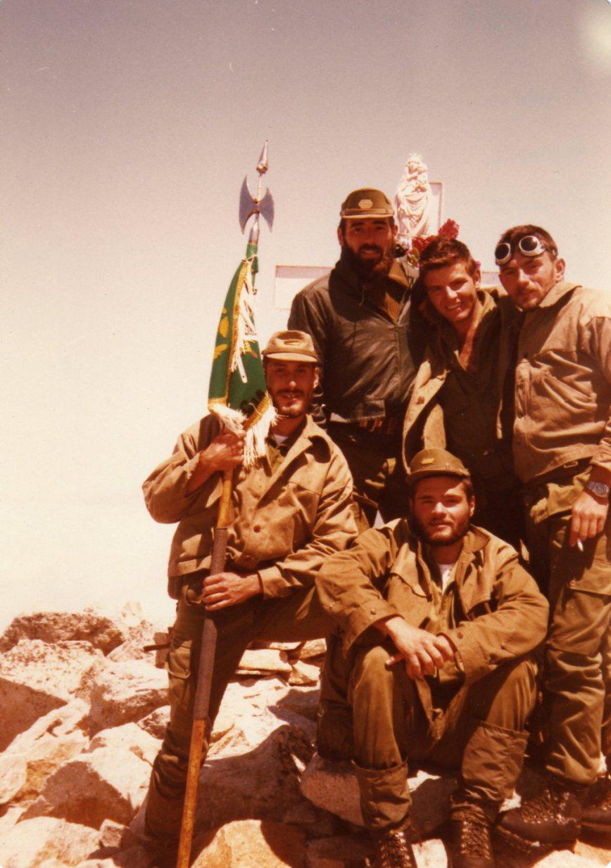 Julio de 1982, en el Aneto con Juanje, Ramon, Fermin y el Brother