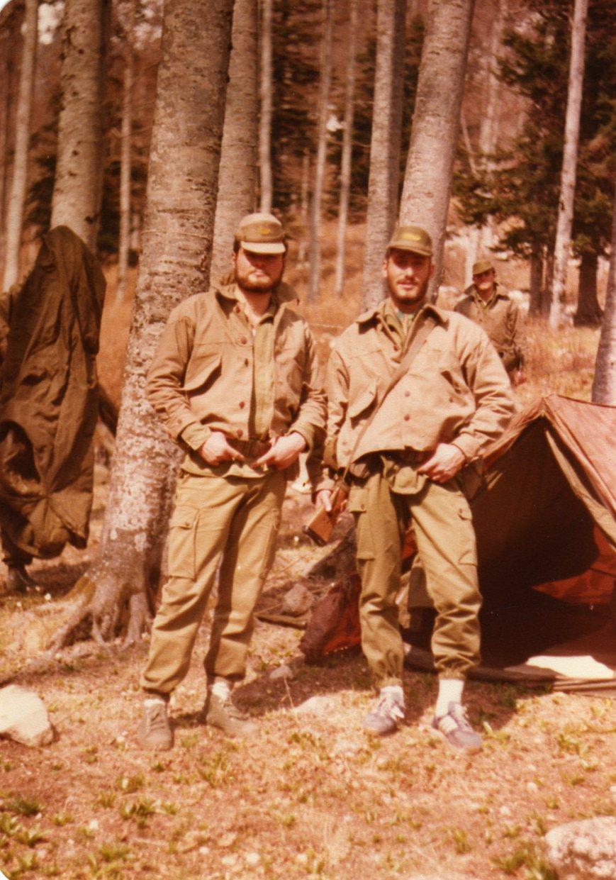 Abril de 1982, con JJ Navarro