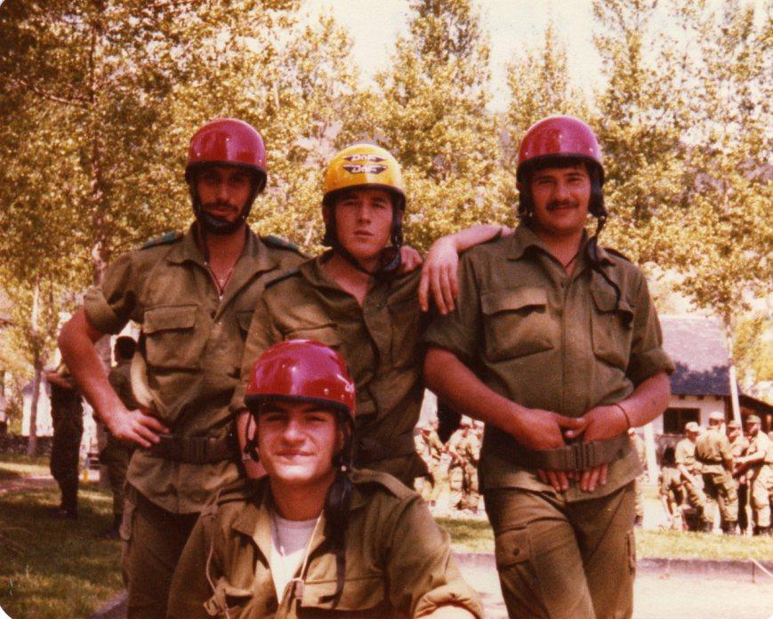 Junio de 1982, con Julian el Chingui y Cornejo.