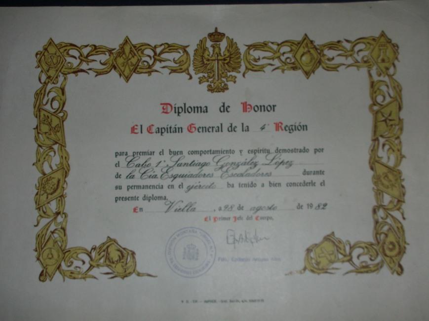 1981/82, Diploma