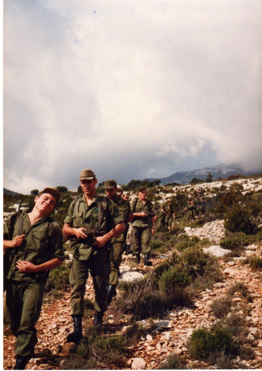 Noviembre 1981, Operación Boixols. Fueron unas maniobras de brigada donde la compañía daba golpes de mano haciendo desplegar a la Brigada. El premio era conseguir atrapar a un EE.EE.,s de Viella. No hubo premio ¡por su puesto!